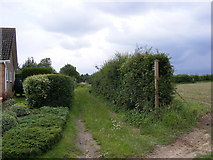 TM4160 : Footpath to Friston Moor by Geographer