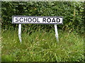 TM4161 : School Road sign by Adrian Cable