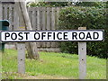 TM4361 : Post Office Road sign by Adrian Cable