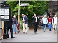 SO9525 : Security at Cheltenham Racecourse Station by Christine Johnstone