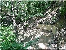 SE0026 : Hebden Royd Footpath 20 in Redacre Wood, Mytholmroyd  by Humphrey Bolton