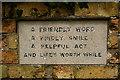 TL0861 : Incised stone, Keysoe Row Baptist Chapel by Julian Osley