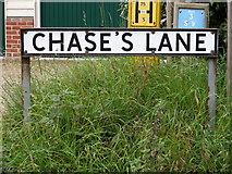 TM4160 : Chase's Lane sign by Geographer