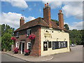 TQ6668 : House by The Leather Bottle pub by Oast House Archive