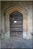 SP9599 : North doorway by Richard Croft