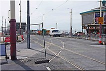 SD3036 : New points on Promenade tramway near Talbot Square, Blackpool by P L Chadwick