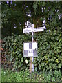 TG0927 : Roadsign on Reepham Road by Adrian Cable