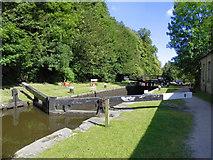 SD9926 : Rochdale Canal, Mayroyd Mill Lock by David Dixon