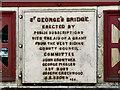 SD9927 : St George's Bridge Nameplate by David Dixon