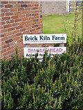 TG0723 : Brick Kiln Farm sign by Adrian Cable