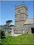 SW4538 : Zennor church by Graham Horn