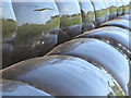 SW7114 : Detail of silage bales at Prazegooth by Rod Allday
