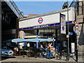 TQ2484 : One of the entrances to Kilburn tube station, Shoot Up Hill, NW2 by Mike Quinn