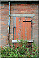 SO9835 : Farm shed door by David Lally