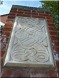 SU4212 : Traditional design on a pillar in Brintons Road by Basher Eyre