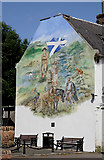 NS6113 : The Castle Mural, New Cumnock by Walter Baxter