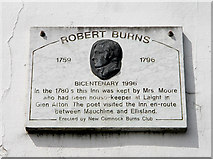 NS6113 : A Robert Burns plaque in New Cumnock by Walter Baxter
