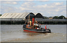 TQ3778 : River Thames and the remains of Deptford Dockyard by Chris Allen