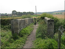 NZ3243 : The Coffin Bridge. Named locally in Victorian times when coffins were carried via it to St Laurence Churchyard at Hallgarth by peter robinson