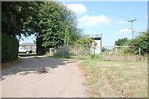 SJ8615 : Entrance to Eaton Brook Farm, Woollaston Lane by Mick Malpass