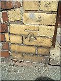 SH4862 : Benchmark at 33 Marcus Street, Caernarfon by Meirion
