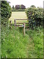 TM4160 : Stile of the footpath to Grove Road by Geographer