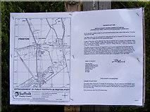 TM4160 : Footpath amendment notice on Church Path by Geographer