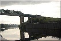 SJ7293 : Ship Canal and Railway Bridge Irlam by SMJ