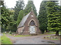 ST2987 : Former RC chapel, St Woolos Cemetery, Newport by Jaggery