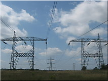 TQ4262 : Two pylons into One by David Anstiss