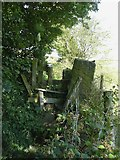SE0026 : Stile on the Burlees branch of Hebden Royd Footpath 18 by Humphrey Bolton