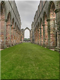 SE2768 : The Abbey Church, Fountains Abbey by David Dixon
