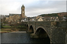 NT2540 : Bridge over the Tweed, Peebles by David Robinson