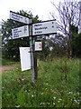 TM3250 : Roadsign on the B1084 Woodbridge Road by Geographer