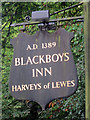 TQ5220 : Blackboys Inn sign by Oast House Archive