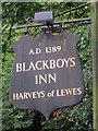 TQ5220 : Blackboys Inn sign by Oast House Archive