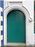HU4741 : Lerwick: detail of a Grand Hotel doorway by Chris Downer