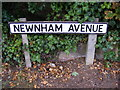 TM2648 : Newnham Avenue sign by Adrian Cable