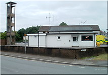 SN7634 : Training and drill tower, Llandovery Fire Station by Jaggery