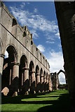 SE2768 : The Nave at Fountains Abbey by Graham Hogg