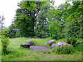 NS5762 : Queens Park stone circle by Thomas Nugent