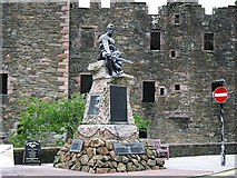 NX6851 : Kirkcudbright War Memorial by Rose and Trev Clough