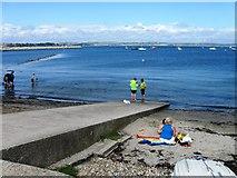 SY6874 : Slipway, Portland harbour by Alex McGregor