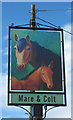 SO8473 : Mare & Colt (2) - sign, Worcester Road, Summerfield by P L Chadwick