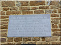SP7471 : Commemorative tablet on the Old School by Alan Murray-Rust