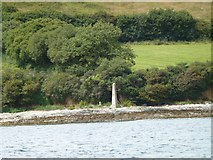 SW8234 : West boundary marker Falmouth Harbour by Steve Barnes