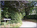 TM2348 : Footpath to Lodge Road & Orchard Lane by Adrian Cable