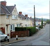 SN7634 : Llanfair Road houses, Llandovery by Jaggery
