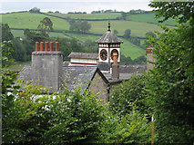 SX8155 : Roofs and clocktower, Tuckenhay Mill  by Robin Stott