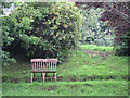 SX8156 : Hillside garden with seat, Bow  by Robin Stott